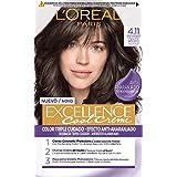 L'Oréal Paris Excellence Cool Creme Color Triple Cuidado, Tono 4.11 Castaño Ceniza Intenso - 260 g