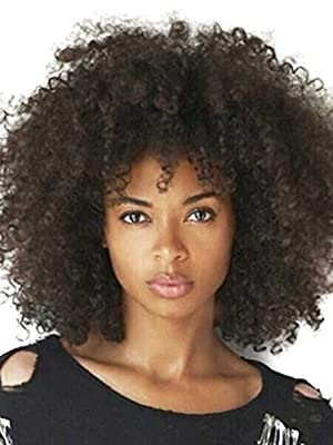 Kalyss Women's 150% Density Afro Kinky Curly wig Synthetic for Black womens from Kalyss