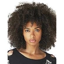 kalyss Mujer 150% densidad Afro Kinky rizado peluca sintética para negro para mujer
