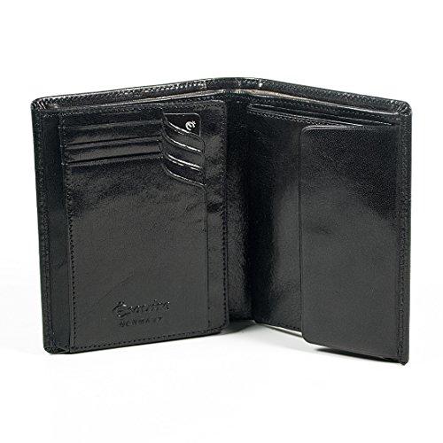 Esquire Toscana Élevébörse mit Geheimfach Noir Schwarz (Black)