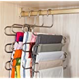 Pindia Stainless Steel Multitier Hanger, Silver