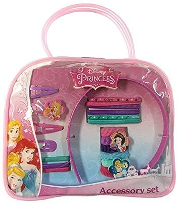 Disney Princess Girls 20 Piece Hair Accessories Kit with Hand Bag