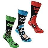 Marvel Lizenz Herren Socken 3er Pack