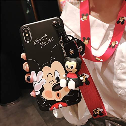 Schutzhülle für Samsung (Motiv: Minnie Mickey Maus-Puppe, mit 2 Gurten, weiche, Matte Hülle), for Samsung Galaxy S10 Plus, Micky Maus