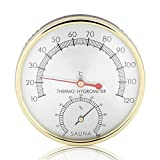 Termómetro de Sauna de Metal Higrómetro para Sala de Sauna, Casas, Oficinas