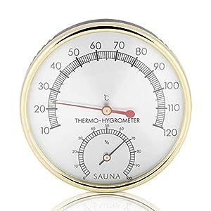 Sauna Thermometer Hygrometer Klimamesser Luftfeuchtigkeit Saunazubehör Metall
