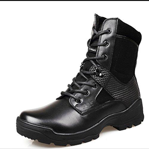 qiangren-nero-pelle-uomo-combat-patrol-stivali-tattico-militare-cadetto-sicurezza-stivali-nero-black