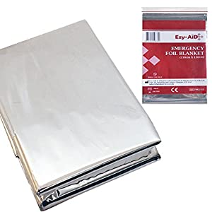 51WPqO icOL. SS300  - 10x Premium Foil Survival Blanket, Reflective & Thermal Safety, Emergency First Aid