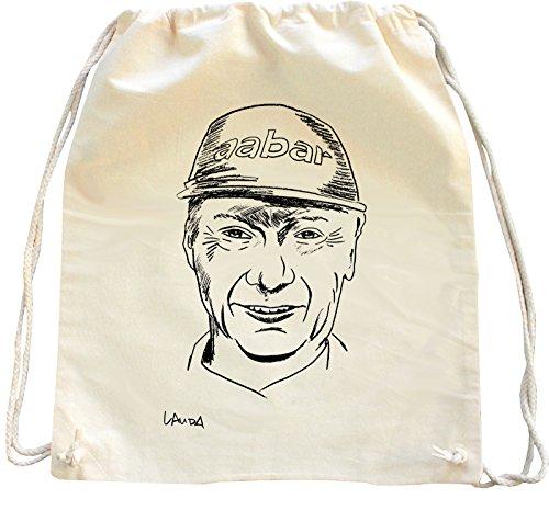 Mister Merchandise Zaino Borsa Sacco Niki Lauda, Colore: Naturale
