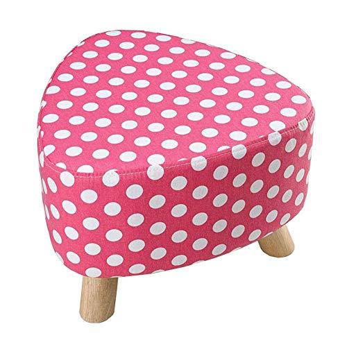 DSHUJC Fußbank Sponge gepolstertes Sofa Hocker Holzbein Schuh Bank Removable Waschbar, Wohnzimmer liefert 9 Farben (Größe: 39 * 28cm) -