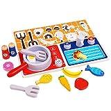 Holzspielzeug Küche Gasherd Spielzeug Kinderspielhaus Spielzeug Puzzle Early Education Aid Geschenke for Kinder Lernen lzpff