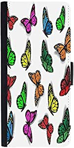 Snoogg Colorful Butterfliesdesigner Protective Flip Case Cover For Samsung Ga...