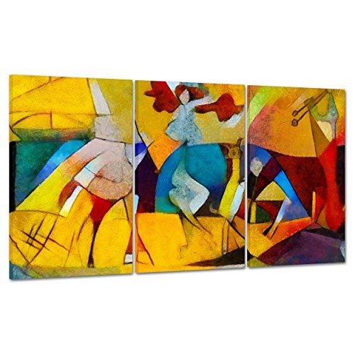 Cuadro sobre lienzo Canvas–ConKrea–Listo para colgar–Kandinsky rivisitazione Picasso Guernica