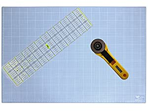 Snaply A1 Schneidematte + Rollschneider + Patchwork-Lineal