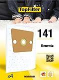 TopFilter 141, 4 sacs aspirateur pour Rowenta  boîte de sacs d'aspiration en non-tissé, 4 sacs à poussière (30 x 26 x 0,1 cm)