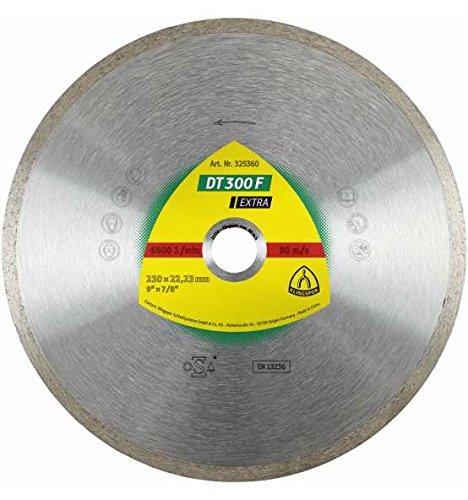 KLINGSPOR DT 300 F EXTRA DISCO DE CORTE DE DIAMANTE PARA BALDOSAS  BASIC PARA AMOLADORA ANGULAR  125 X 22 23 X 1 6 MM