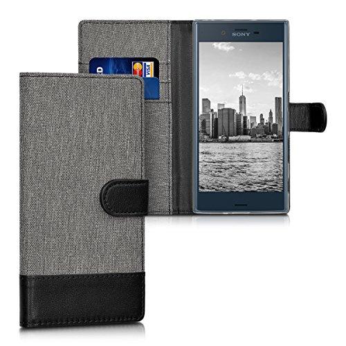 kwmobile Sony Xperia XZ/XZs Hülle - Kunstleder Wallet Case für Sony Xperia XZ/XZs mit Kartenfächern und Stand