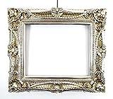 Barock Bilderrahmen Silber 60x70/ 40x50 cm (Antik/Vintage) in Handarbeit hergestellt für Künstler,...