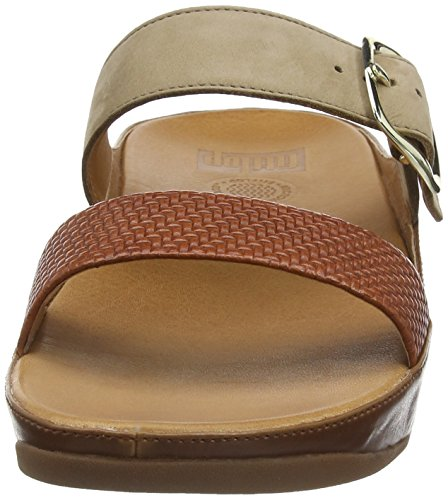 FitFlop Stack Slide, Sandales  Bout ouvert femme Brown (Dark Tan)
