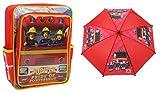 Bundle Deal - Feuerwehrmann Sam - Rucksack und Regenschirm - Jupiter Pride of Pontypandy