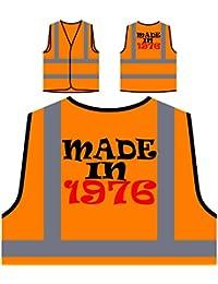 HECHO EN 1976 Funny Novedad Nuevo Chaqueta de seguridad naranja personalizado de alta visibilidad i72vo