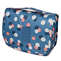 Toiletry Bag Travel Kit Organizer Foldable Cosmetic Makeup Pouch, Blue