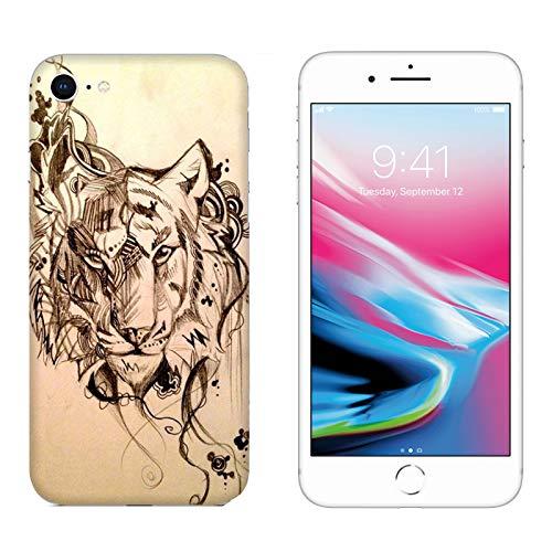 Hülle iPhone 6 Case Apple iPhone 6 Tattoo Tattoos Tiger-Zeichnung Tiger-Zeichnung/Cover Druck auch an den Seiten/Anti-Rutsch Anti-Rutsch Anti-Scratch Schock-resistenten Schutz Schutzulle Starre (Tattoos Iphone 6 Fall)