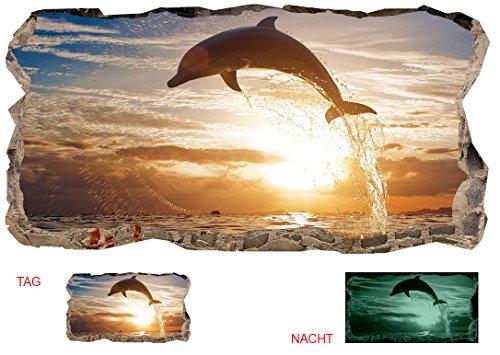 Startonight 3D Tapete Dolphin, Wandmalerei Bild an der Wand Großformat Modern Muster Dekorative Kunst Wand 120 x 220 CM