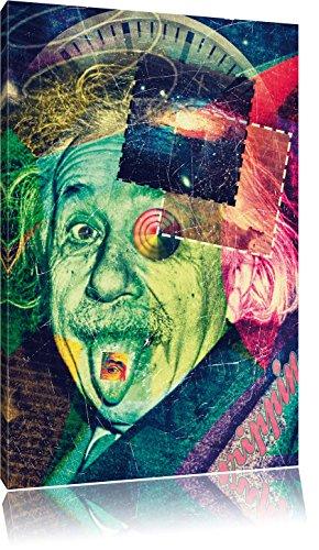 Einsteins secret Leinwandbild Bild auf Leinwand, XXL riesige Bilder fertig gerahmt mit Keilrahmen, Kunstdruck auf Wandbild mit Rahmen, günstiger als Gemälde oder Ölbild, kein Poster oder Plakat, Format:60x40 cm (Einstein-bild)