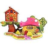 3D Puzzle Pilz Cartoon Haus Modell inkl. 1 Gratis Puzzleteile Herauslösen Werkzeug für Kinder ab 3 Jahre DIY Bauwerk Spielzeug ohne Klebstoff Ideales Geschenk 40 Teile [Schwierigkeit: 3 von 5 Sternen]