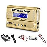Caricabatterie Lipo per batteria LiPo/Li-Ion/Life/LiHV (1-6S), NiMH/NiCd (1-15S), Caricabatterie Balance B6V2 80W 6A (d'oro)