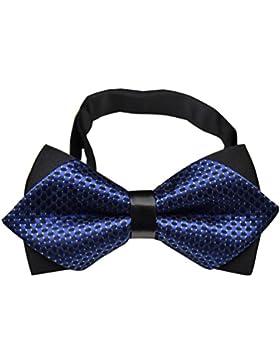 NiSeng Boda del Smoking Corbata Elegante Corbatas de Boda Ajustable Pre-Atado Pajaritas para Traje Bow Tie Trabajo...