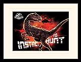 1art1 115507 Jurassic World - Das Gefallene Königreich, Jagdinstinkt, Hubschrauber Gerahmtes Poster Für Fans und Sammler 40 x 30 cm