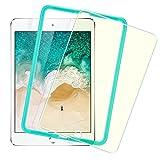 Nuevo iPad 2017 9.7/ iPad air 2/ iPad Pro 9.7 Protector Cristal Templado para Pantalla [Fácil de Instalación] [Anti- Luz Azul] con Marco para Colocar, Anti-Huellas Dactilares, Anti-arañazos de 9H Dureza Protector Pantalla