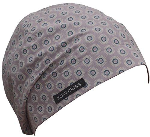 Kopfmuss - leichte, ungefütterte Sommermütze Damen KoS1131 - S, gänseblümchen hellviolett