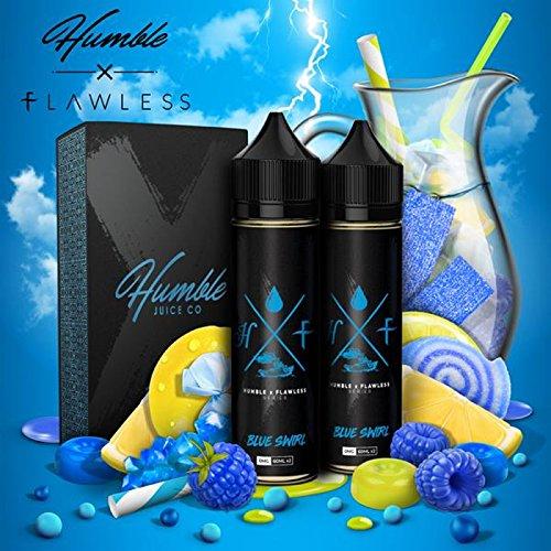 Blue Swirl (100ml) Plus e Liquid by Humble X Flawless Nikotinfrei - Pb Swirl