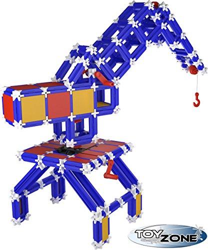 Preisvergleich Produktbild Seva Steckbaukasten 719 Teile Kran Stecksystem Motorikspielzeug Steckspiel Konstruktionsspielzeug