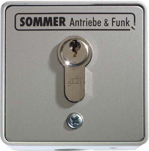 Sommer Schlüsseltaster 5008V000 2Kont.m.Zyl. aP Taster 4015862050083