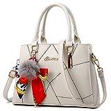 Frauen-Taschen-weibliche Handtaschen PU-Leder-Schulter-Crossbody-Kurier-Taschen für berühmtes Weiß