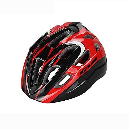MIAO Fahrrad Helm-Outdoor Kind Radfahren / Riemenscheibe / Skateboard Sport-Sicherheitsschutz (EPS-Schaum + PC-Shell) , red black