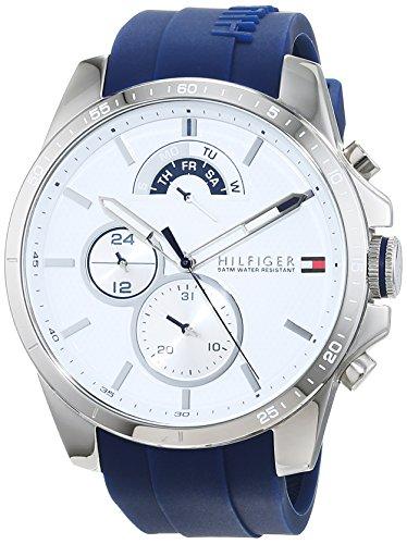 Tommy Hilfiger Herren Multi Zifferblatt Quarz Uhr mit Silikon Armband 1791349