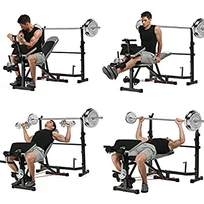mymotto Proffesional Height Adjustable Weight Bench With Dumbbells For Fitness Family by mymotto