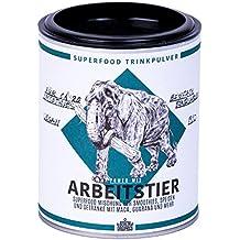 Berlin Organics ARBEITSTIER Superfood Mischung Trinkpulver - Bio & Vegan (100g) - wertvolles Hanfprotein, Maca und Guaraná, mit Koffein - ideales Morning Fuel