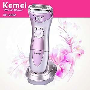 Kemei Women Lady's Electric Rechargeable Hair Shaver Epilator Waterproof Multifunction Bikini Line Legs Armpit Body Trimmer Remover Razor Kemei-200A