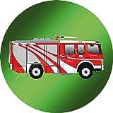 Tortenaufleger Feuerwehrauto3 / 20 cm Ø