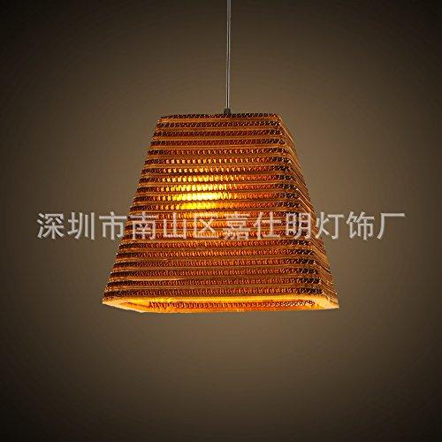 LINA-Personalizzare il creative ombrello paese americano carta corrugata cellulare lampadari workshop per motivi lampadari ,D31*H26CM bare Cafe