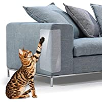FOONEE gatto artiglio schermo,2pezzi trasparente Premium Heavy Duty Flexible vinyl Pet Couch Protector guardia per proteggere mobili, cat scratch stopper
