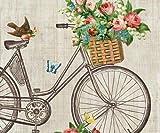 Tovagliolo Fiore Ruota, 33x33cm, Decoupage Classico, Tovaglioli, Carta, Hobby, Colori