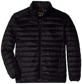 Hawke & Co Men's Packable Down Jacket, Black, Small
