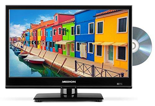 fernseher 17 zoll MEDION P12308 36,6 cm (15,6 Zoll HD) Fernseher (Triple Tuner, DVB-T2 HD, HDMI, USB, CI+, DVD-Player, KFZ Car Adapter)